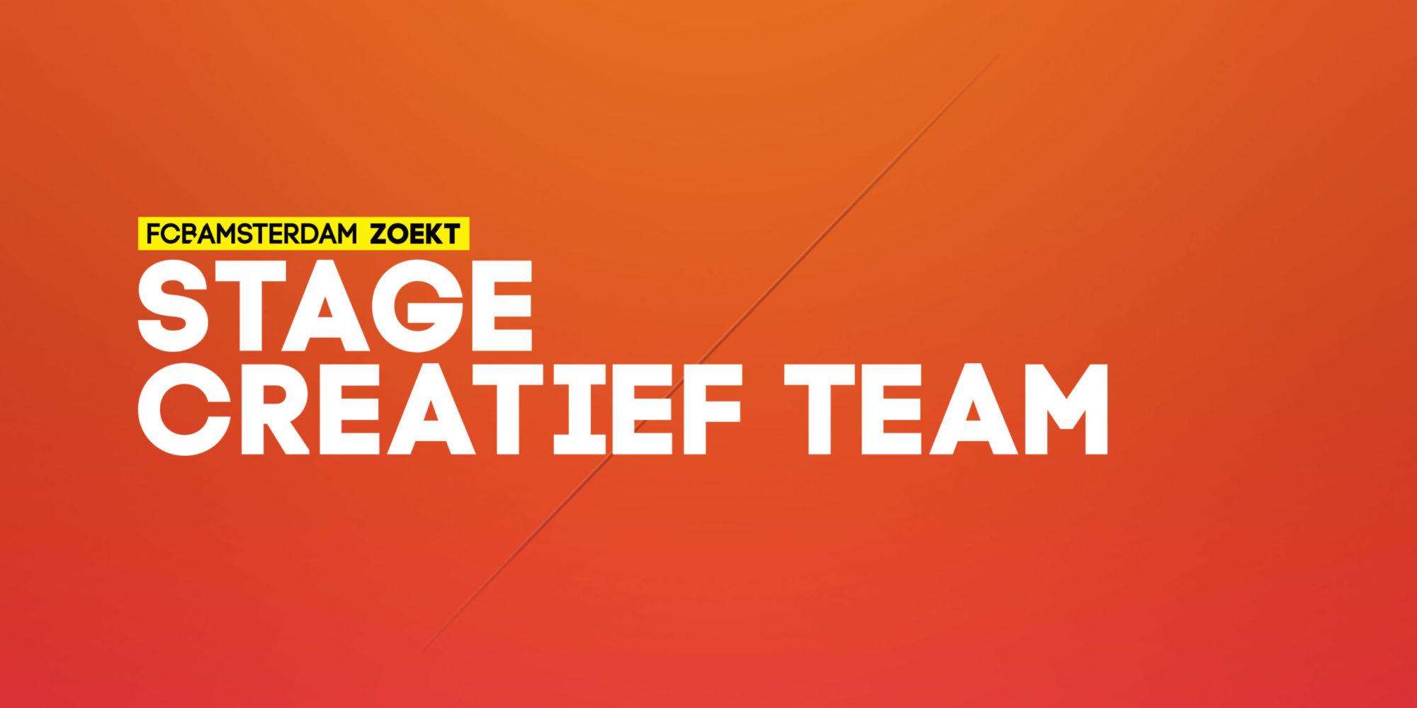 Stage Creatief Team