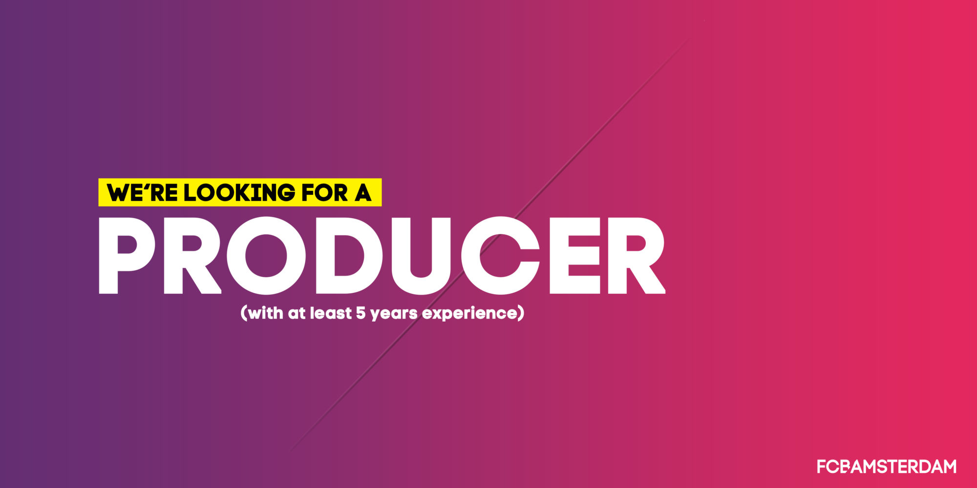 vacature producer